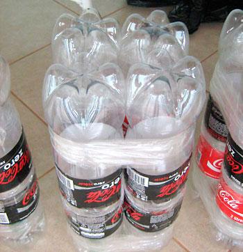 Пуфик их пластиковых бутылок своими руками