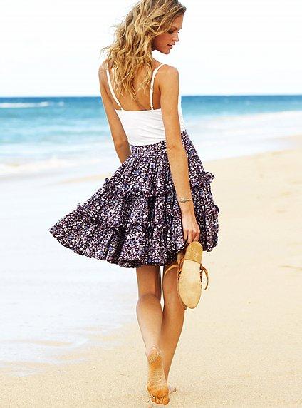 вязание юбок, Выкройка летней юбки