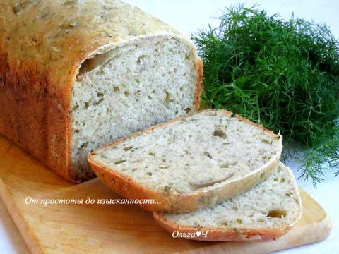 Хлеб с укропом и зеленым луком