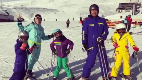 Снежные человечки: 16 звездных детей, которые экстремально проводят зиму