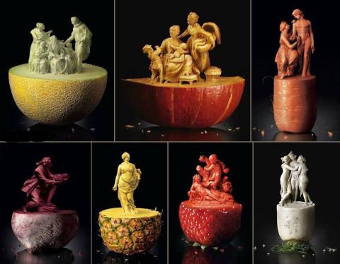 Фруктово-овощные скульптуры