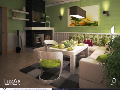 Интерьер спальни кухни