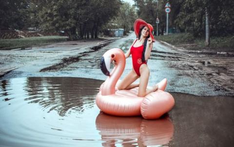 В Саратове модель провела фо…