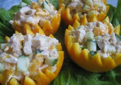Куриный салат с апельсином в…