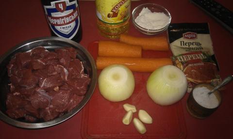 Тушеная говядина в оригинальном пивном соусе