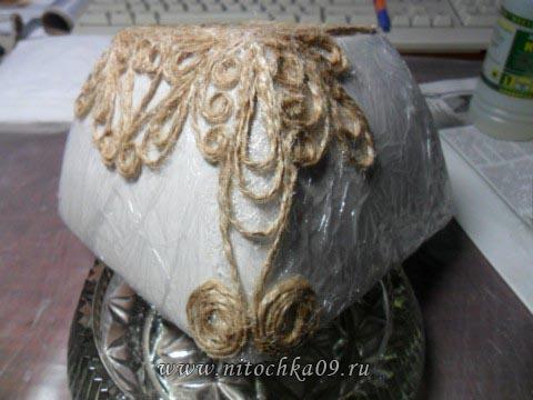Конфетница из джута(первый опыт)