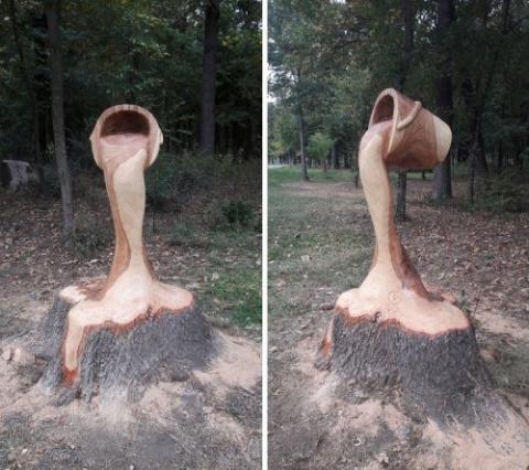 Необычная деревянная скульптура