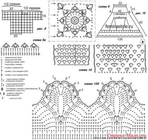 Схемы для каймы и оборок - подборка