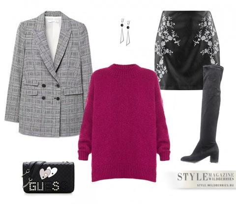 Модная клетка: 5 образов от стилистов