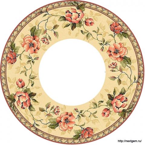 Круглые цветочные рамочки для декупажа