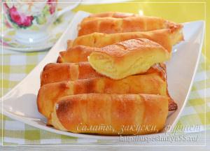 Пирожки с плавленным сыром