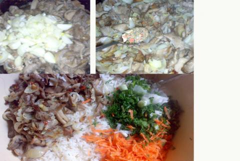 Рисовая запеканка с грибами (серия: буйны гости на пороге)