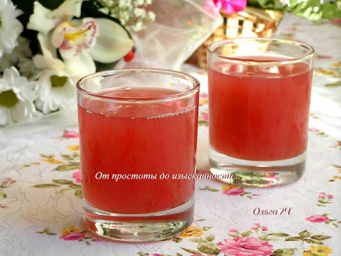 Мятный вишневый кисель