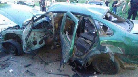 В Донецкой области взорван автомобиль с сотрудниками СБУ