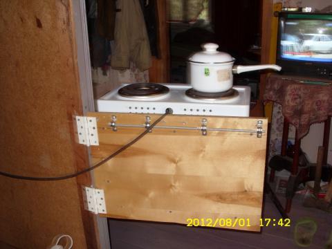 Маленькая придумка для дачи (сада) - полка для электроплитки