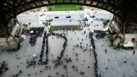 Как выглядит Париж с Эйфелев…