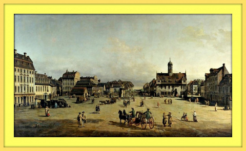Площадь Нойштедтер Маркт.1750г.
