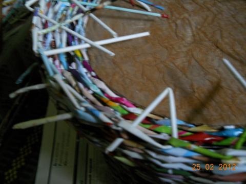 Мастер-класс по плетению короба для рукоделия.