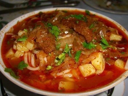 Узбекский густой суп - лагман