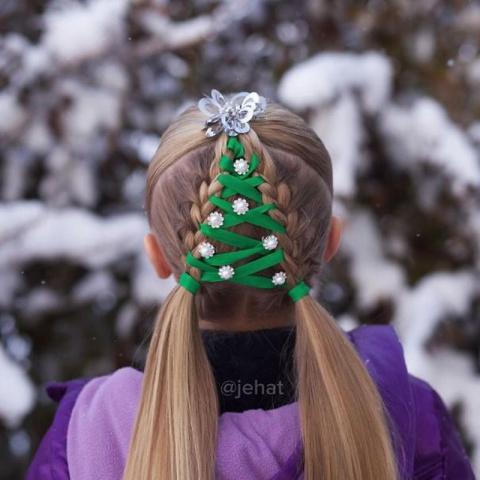 Лучшие идеи новогодних причёсок
