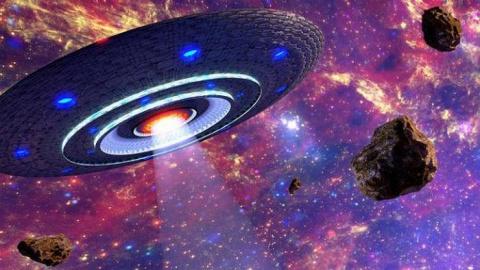 Огромные корабли пришельцев на орбите Земли