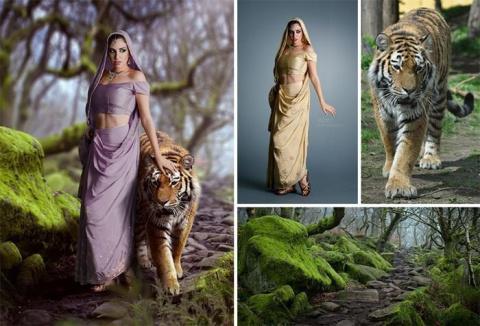 Фотограф создает сказку с помощью случайных картинок из интернета