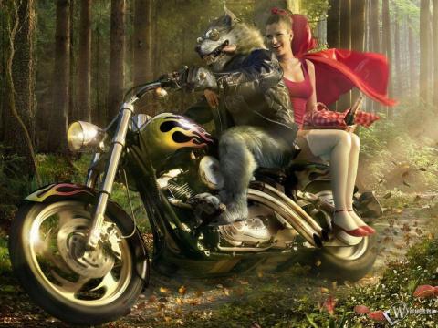 Шикарные интерпретации сказки «Красная Шапочка»!