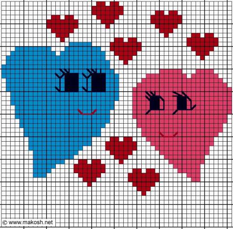 Подборка маленьких схем для вышивания ко дню Св. Валентина.