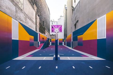 Баскетбольная площадка в Париже