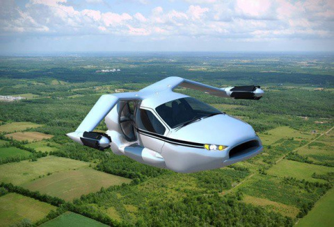 Первый в мире летающий автомобиль
