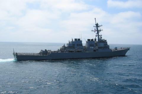Еще один эсминец США столкнулся с гражданским судном