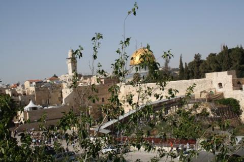 Иерусалим вид на стену Плача сверху