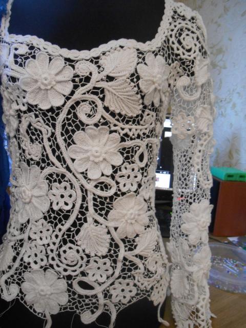 Свадебное платье в процессе.