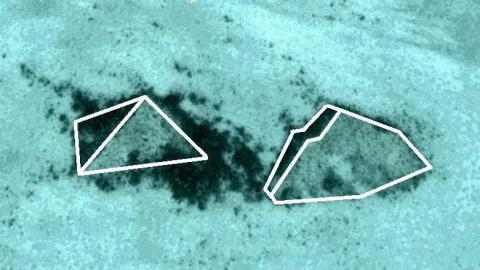 Загадочные подводные пирамиды найдены возле Багамских островов