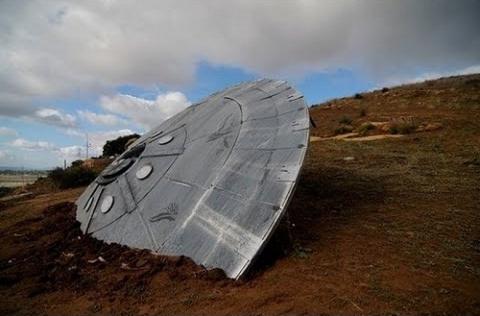 Как в Подмосковье нашли склеп с НЛО и пришельцем