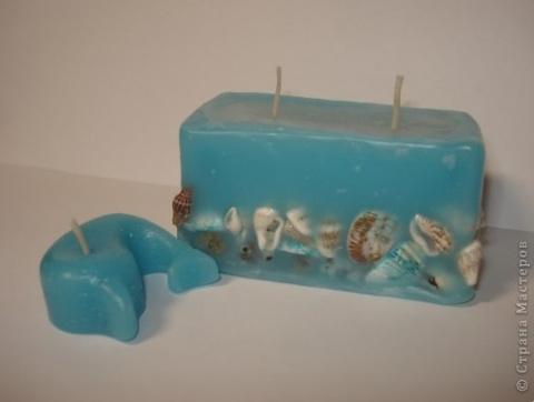 Свечи -  с ракушками и дельфинчик)