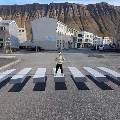 Создана 3D-зебра для пешеход…