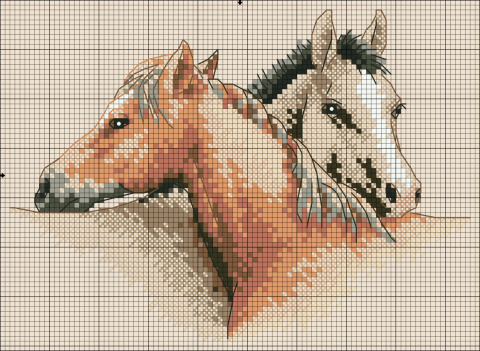 картинку Пара лошадей