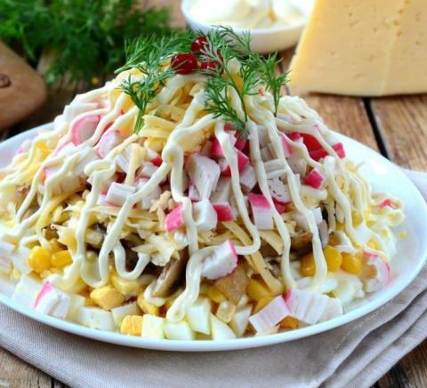 Вкусный и необычный салат «П…