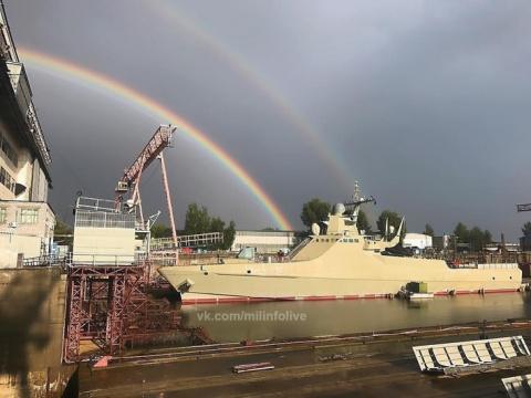 Патрульный корабль «Василий Быков» проекта 22160 спущен на воду