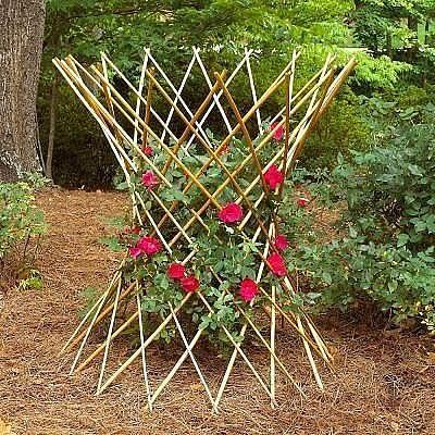 Деревянные опоры для цветов.…