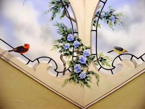 Ручная роспись потолка! Сказочно!