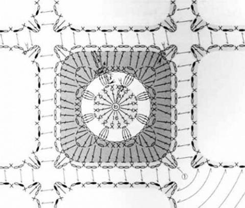 схема квадрата