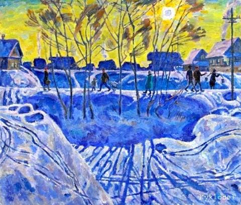 Зима в советском изобразител…
