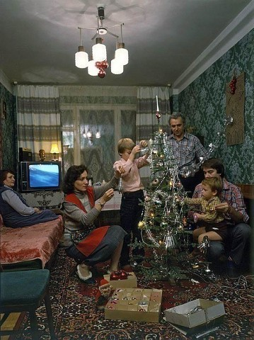 Предновогодний вечер. СССР, 1986 год