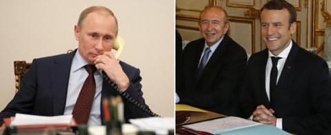 Путин и Макрон провели первы…
