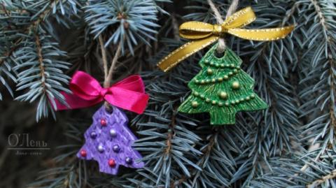 Как сделать новогоднее украшение в виде елочки своими руками