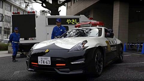 В Токио полицейский автопарк…