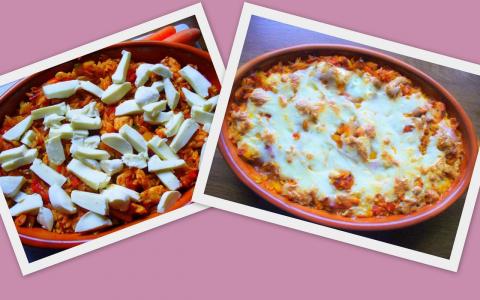 Куриные грудки  с овощами и Kritharaki(Греческая лапша). Фото-рецепт. Olga Dell