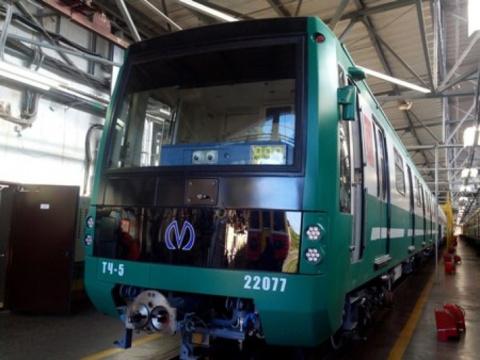 Метрополитену Петербурга передали еще один зеленый состав